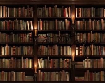 Library - 60x80 Fleece - Wrinkle Resistant - Backdrop