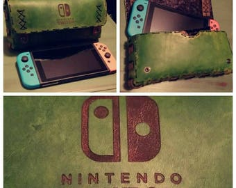 Custom Leather Nintendo Switch Case