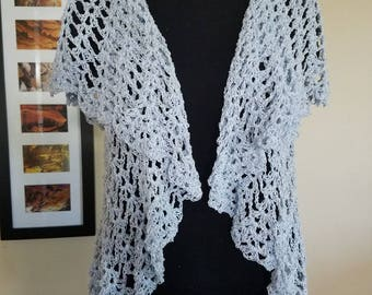 Crochet Circle Vest Size Small