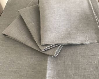 Linen Heritage 100% Linen Napkins Set of 6 - 40cm x 40cm