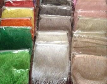 56 Colours - Ostrich Feather Trim 10-15cm Drop 1 Metre