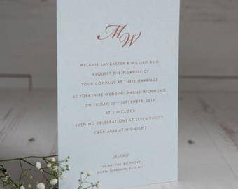 Blush Wedding Invitation - without foiling