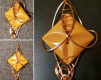 Wire Wrapped Bakelite Pendant