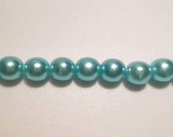 100 Pieces Imitation Pearl: Teal