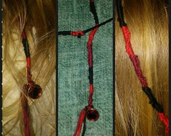 Classy Red Jeweled Hair Wrap Pin