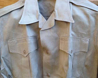 1950s US Army Khaki Class B summer uniform shirt