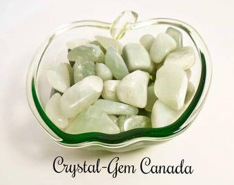2 (two) powerful Jade, Pocket Stones, - Gemstone for love, pace, and calm. Gemstone infused w Reiki