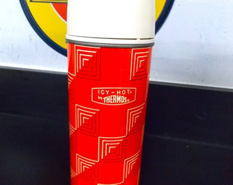 ICY-HOT by THERMOS, Vintage Thermos, Pint Size and Made in the Usa, Thermos