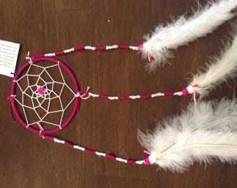 Red Pink Dream Catcher