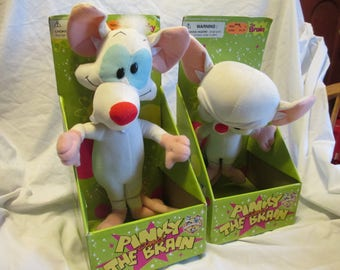 Pinky and The Brain Plush Figures from Play by Play Toys 1996