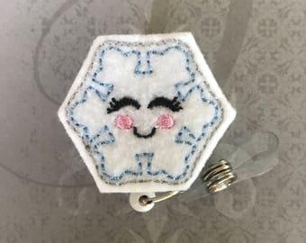 Snowflake badge reel