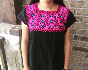 Medium Embroidered Mexican Shirt