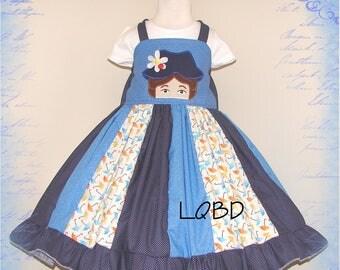 Flying Nanny - Umbrella Nanny Dress Set - ready to ship - fits 4/5 4T 5T - Birthday Party - Spoon Full of Sugar