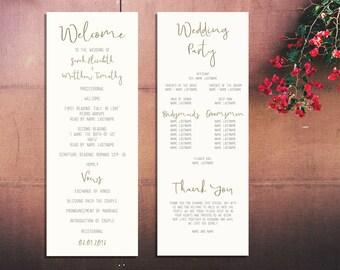 Wedding Program Template (Gold)
