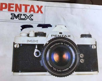 Original Owner Pentax MX 35 mm SLR Manual Film Camera.  Made in Japan