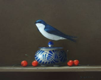 Four Cherries and a Swallow~ Limited Edition Print