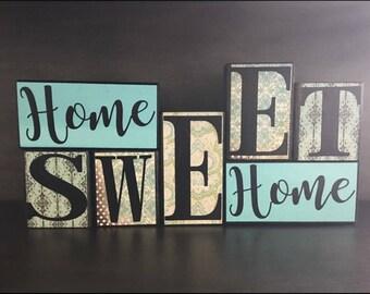 Home Sweet Home Wood Block Set