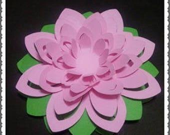 Flor de Loto file cut silhouette svg fcm scancut