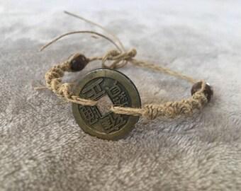 Chinse Lucky Coin Bracelet, Friendship Bracelet, Couples Bracelet, Promise Bracelet