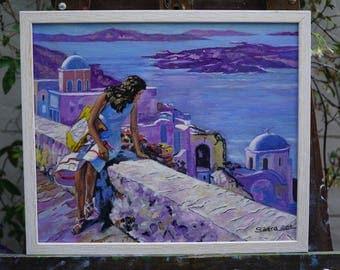 Lady in Santorini