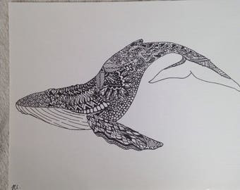 Zentangle Humpback Whale