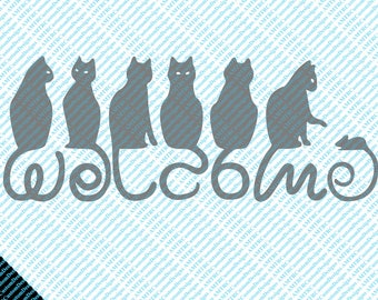 Cat Tails Welcome Sign