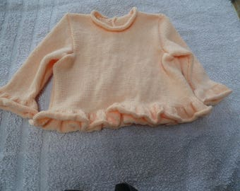 Ruffled baby girl sweater size 1 year