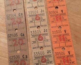 45 Vintage english bus tickets