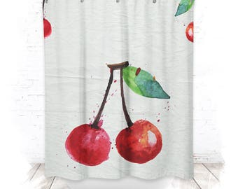 Shower curtain / shower curtain 150cm cherry