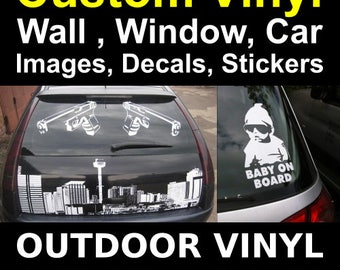 Custom Vinyl Decal Vinyl Lettering Vinyl Stickers Letters - Custom vinyl stickers for trucks