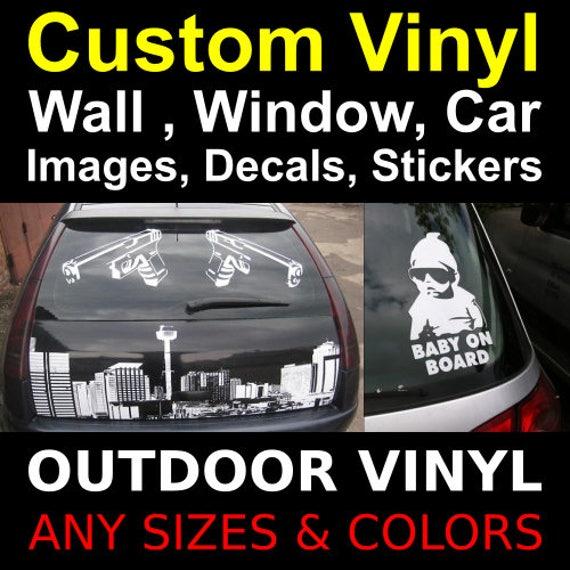 Custom Vinyl Decal Vinyl Stickers Logo Letters Numbers Name - Custom vinyl decals and lettering