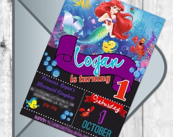 Little Mermaid Digital Invitation