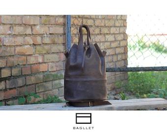 Leather Bag B041, Leather Duffel Bag, Leather Weekender Bag, Mens Duffle Bag, Leather Bag, Genuine leather duffle bag, Bag for him