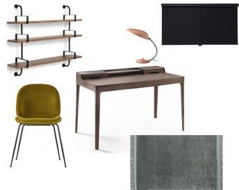 Online E-Design Service: Study Design | Virtual Interior Design | E-Decorating | Interior Design Service | Office Decor |Bespoke Design
