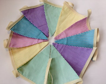 Beautiful striped cotton bunting double sided garden beach hut camping party