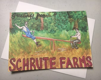 Greetings from Schrute Farms Greeting Card (The Office)