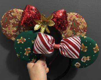 Christmas Themed Ears- Multiple Styles