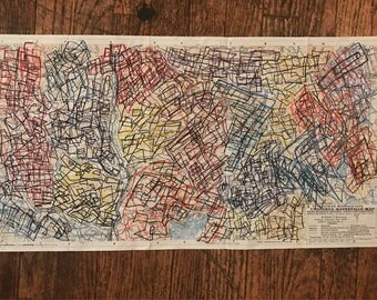 Abstracted Appalachian Mountain Club map