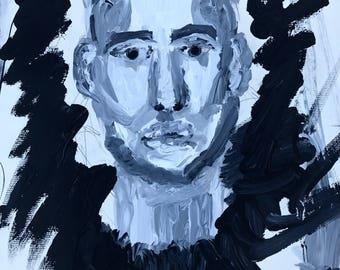 Black halo portrait