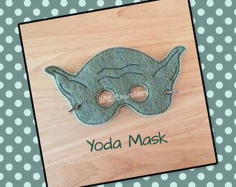 Yoda Inspired Felt Mask- Child's Dress Up and Imaginary Play- Star Wars-Birthday Party Favor-Photo Shoot-Pretend Play-Theme Party