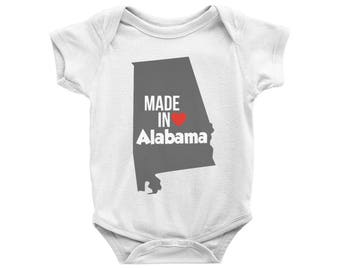 Made in Alabama Onesie, Made in Alabama Bodysuit, Alabama Baby, Alabama Gift, Baby Shower Gift, Newborn Gift, New Baby Gift, Alabama Pride