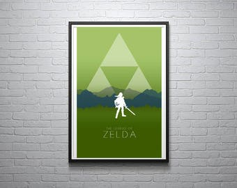 The Legend of Zelda - Link Minimalist Print - 11x17
