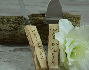 Wedding knife. Wedding cake set. Personalized knife. Cake cutting set.Personalized knives. Cake knife set.Cake knife set.Rustic cake server