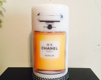 Chanel perfume bottle   candle!