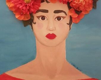Original mixed media painting: Lola