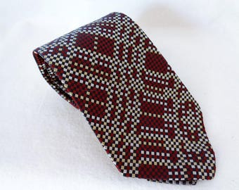 VJ513 : Comes Pure Silk Necktie, High-quality silk Men's necktie, Vintage unused,made in Japan