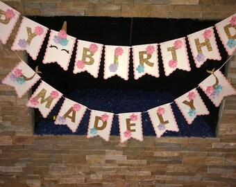 Mystical Themed Party - Unicorn & Mermaid Birthday Banner