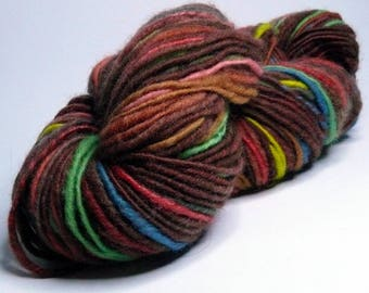 "SALE 15% OFF: Handspun ""Cross Country"", corespun, for knitting, crocheting, felting, weaving, or as doll hair"