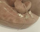 Name bracelet with Greek letters, Custom word bracelet, Name bracelet, sterling silver 925