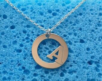 Monogram Necklace, Letter A,sterling silver 925, Custom your Monogram
